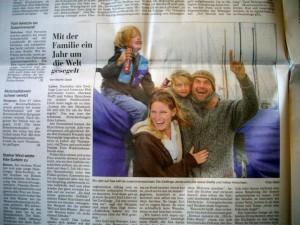 """Eine zum-verrückt-werden-tolle-Frau, zwei lustige Kinder mit """"Drückberger-Eis"""" und ein halbwahnsinniger Kpt."""